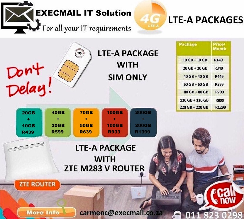 LTE-A PACKAGES