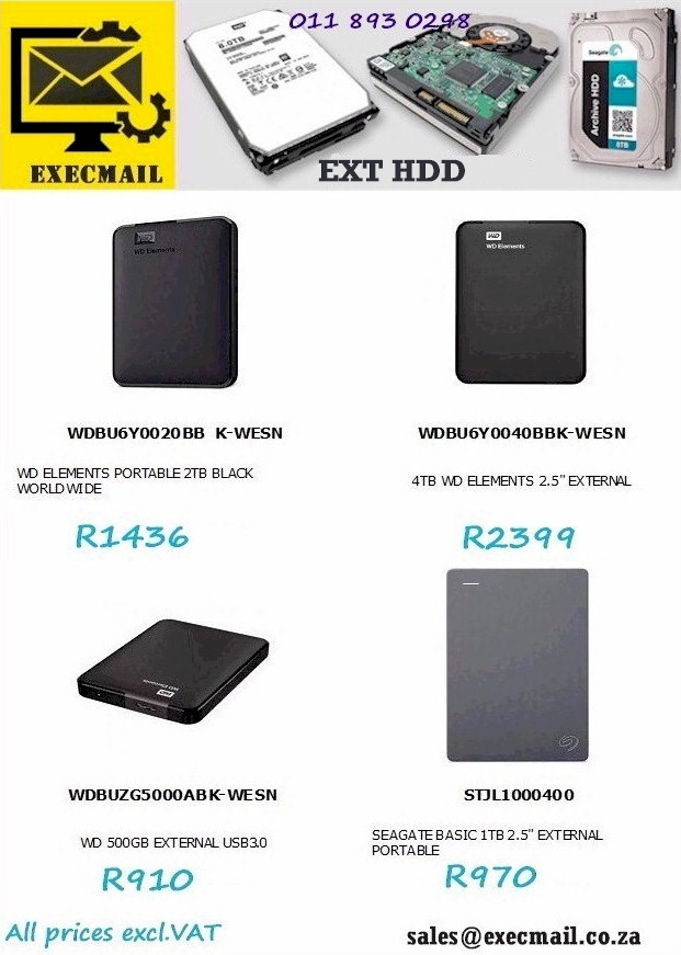 EXT HDD @ EXECMAIL