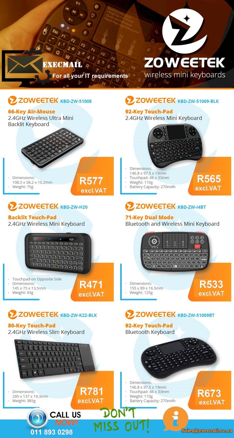 Zoweetek wireless mini keyboard